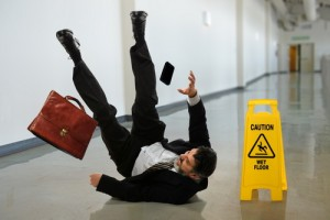 man injured from slip and fall accident